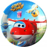 Set 8 farfurii de unica folosinta 23 cm Super Wings
