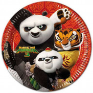 Set 8 farfurii de unica folosinta Kung Fu Panda 23 cm