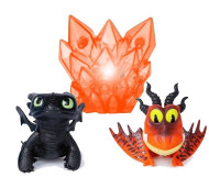 Set de joaca Snotlout si Furia Noptii cu cristal luminos How to Train Your Dragon