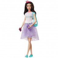 Set papusa Barbie bruneta cu accesorii Barbie Princess Adventure