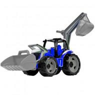 Tractor excavator albastru Lena 65 cm