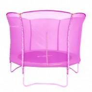 Trambulina cu plasa de protectie inSPORTline roz 244 cm