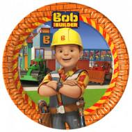 Set 8 farfurii de unica folosinta Bob Constructorul 23 cm