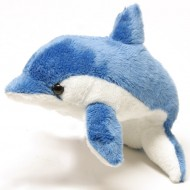 Delfin de plus albastru 13 cm