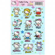 Abtibilduri Hello Kitty Zodii 12 bucati