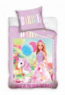 Lenjerie pat 2 piese Barbie 140x200 cm BARB201015B-PP