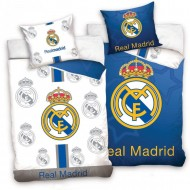 Lenjerie pat cu doua fete FC Real Madrid 160x200 cm RM181011