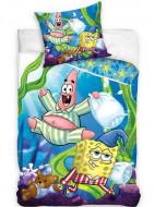 Lenjerie pat SpongeBob Pantaloni Patrati 160x200 cm