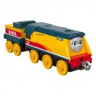 Locomotiva metalica Rebecca cu vagon Thomas si Prietenii