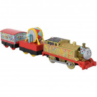 Locomotiva motorizata Golden Thomas cu doua vagoane Thomas si Prietenii Track Master