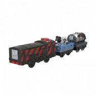 Locomotiva motorizata vorbitoare Diesel cu doua vagoane Thomas si Prietenii Track Master