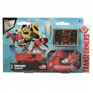 Masinuta metalica Sideswipe in cutie Transformers Robots in Disguise