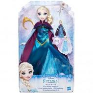 Papusa Elsa 2 in 1 Frozen