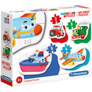 Puzzle 4 in 1 Vehicule Clementoni 14 piese