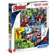 Puzzle Avengers Clementoni 2x60 piese