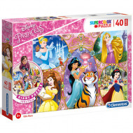 Puzzle de podea Printesele Disney 40 piese