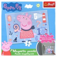 Puzzle magnetic Purcelusa Peppa 30 piese