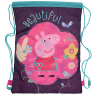 Sac de umar cu snur Beautiful Peppa Pig