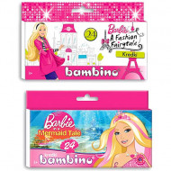 Set 24 creioane colorate Barbie