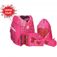 Set ghiozdan ergonomic Sweet Heart echipat