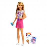 Set papusa Barbie blonda cu accesorii Barbie Skipper Babysitters