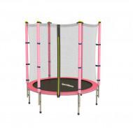 Trambulina cu plasa de protectie Sportmann Fun roz 140 cm