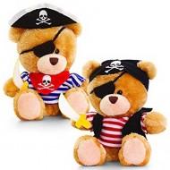 Ursulet de plus pirat Pippins 14 cm