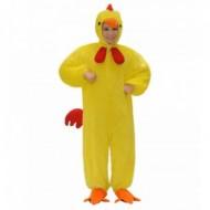 Costum de plus pui galben 134 cm
