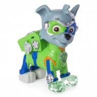 Figurina articulata cu lumini Rocky Mighty Pups Patrula Catelusilor