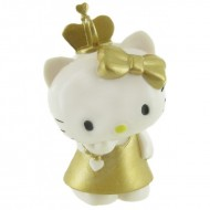 Figurina Hello Kitty in rochie aurie