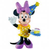 Figurina Minnie Mouse sarbatorind Mickey si Minnie Mouse Bullyland