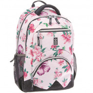 Ghiozdan ergonomic laptop Botanic Mallow roz Ars Una 45 cm