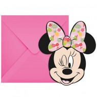 Invitatii pentru petrecere Minnie Mouse Tropical