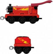 Locomotiva metalica Rail Rocket James cu vagon Thomas si Prietenii