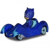 Masinuta metalica Pisi Mobil si figurina Pisoi Eroi in Pijama