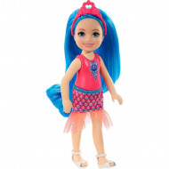 Papusa Chelsea cu par albastru Chelsea Barbie Dreamtopia
