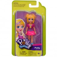 Papusa Polly in rochita roz Polly Pocket