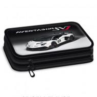 Penar neechipat Lamborghini Aventador alb cu doua niveluri