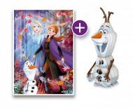 Puzzle 3D + Puzzle 104 piese Frozen