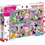 Puzzle 4 in 1 Minnie Mouse Clementoni 160 piese