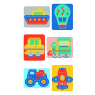 Puzzle Baby 6 in 1 Vehicule Clementoni