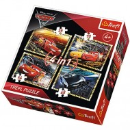 Puzzle Cars 3 Disney 4 in 1