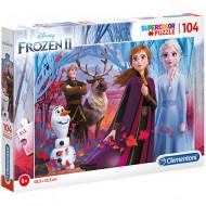 Puzzle Frozen 2 Ana, Elsa si Olaf Clementoni 104 piese