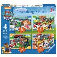 Puzzle Patrula Catelusilor 4 in 1 Ravensburger