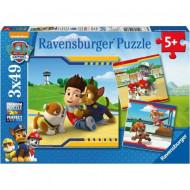 Puzzle Ryder's Team Patrula Catelusilor 3x49 Ravensburger