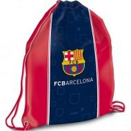 Sac de umar cu snur FC Barcelona rosu-albastru
