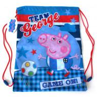 Sac de umar cu snur Team George Peppa Pig