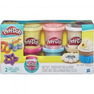 Set 6 cutii plastilina Confetti Play Doh