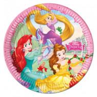 Set 8 farfurii de unica folosinta 23 cm Printesele Disney