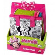 Set geanta de umar cu 3 carioci Minnie Mouse